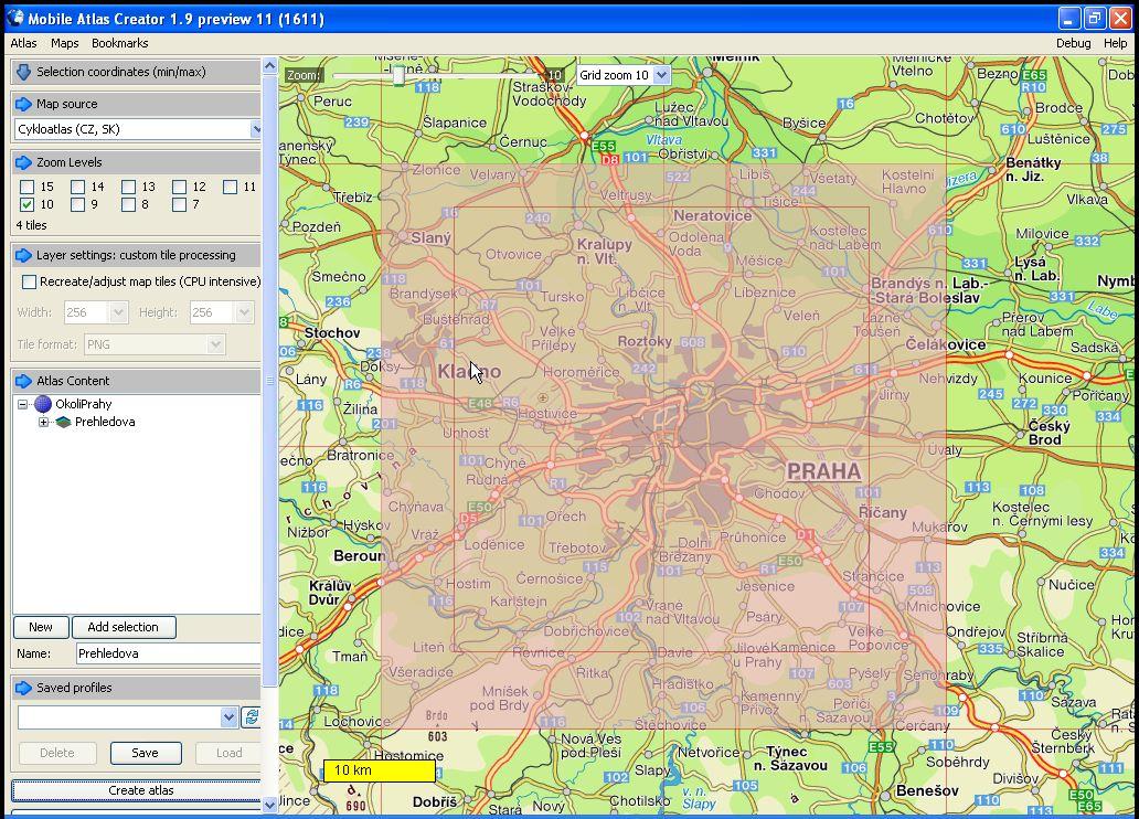 Návod na tvorbu map a atlasů pro mobilní navigaci TrekBuddy